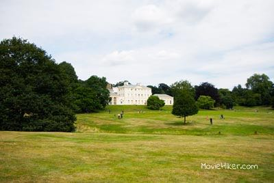 Filming on Hamstead Heath at Kenwood House in the movie Notting Hill